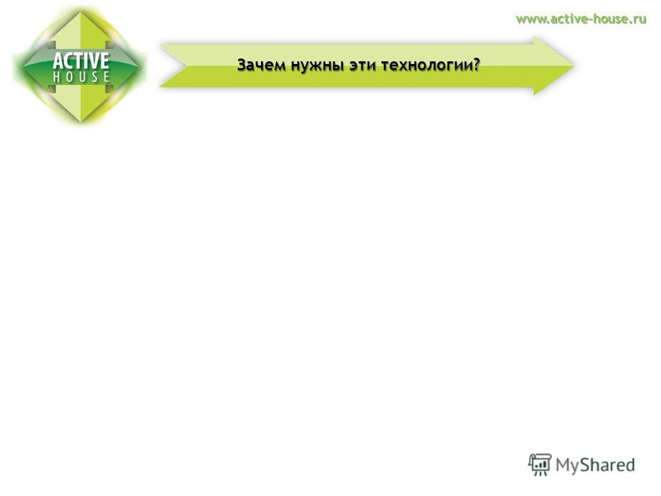 Денежная экономияКомфорт в доме Здоровье Зачем нужны эти технологии? www.active-house.ru
