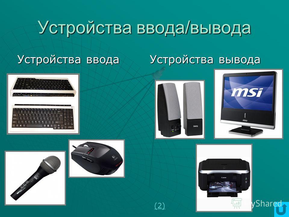 Носители и устройства внешней памяти Магнитная памятьОптическая памятьЭлектронная память СтримерыДисководы НМЖДНГМД ROM Только чтение R Однократная запись RW Перезаписываемые носители CDDVD USB Card Readers Картыпамяти Flash Drive USB Накопители (2)