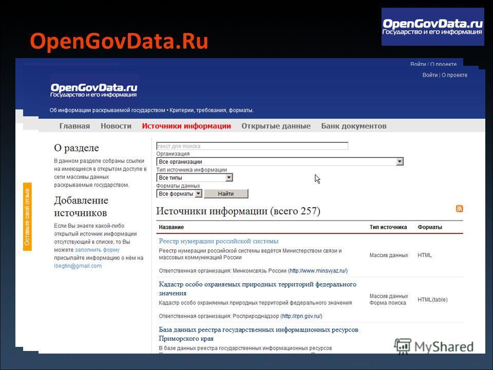 OpenGovData.Ru