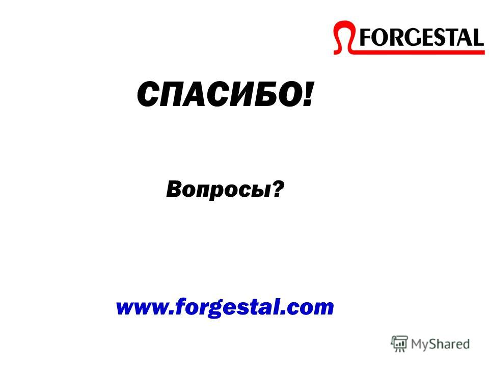 СПАСИБО! Вопросы? www.forgestal.com