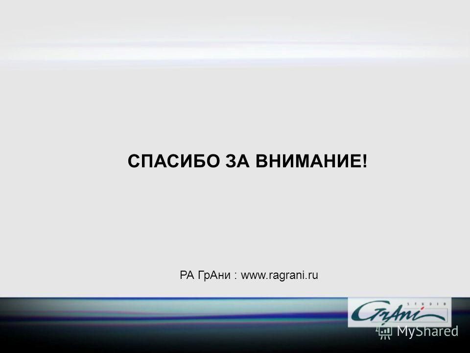 РА ГрАни : www.ragrani.ru СПАСИБО ЗА ВНИМАНИЕ!