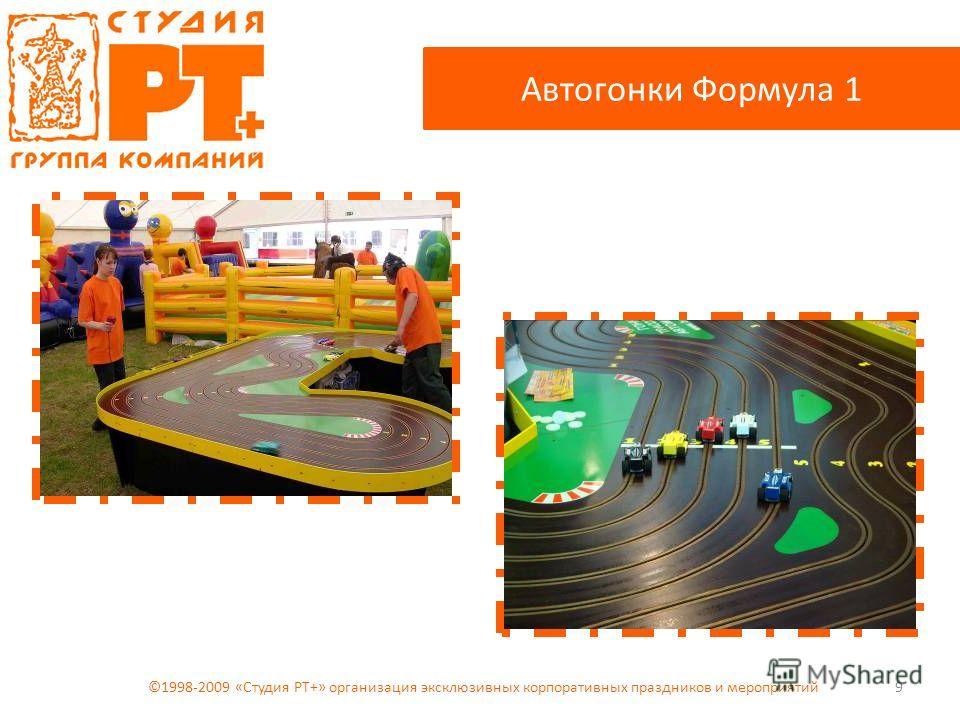 9 Автогонки Формула 1 ©1998-2009 «Студия РТ+» организация эксклюзивных корпоративных праздников и мероприятий