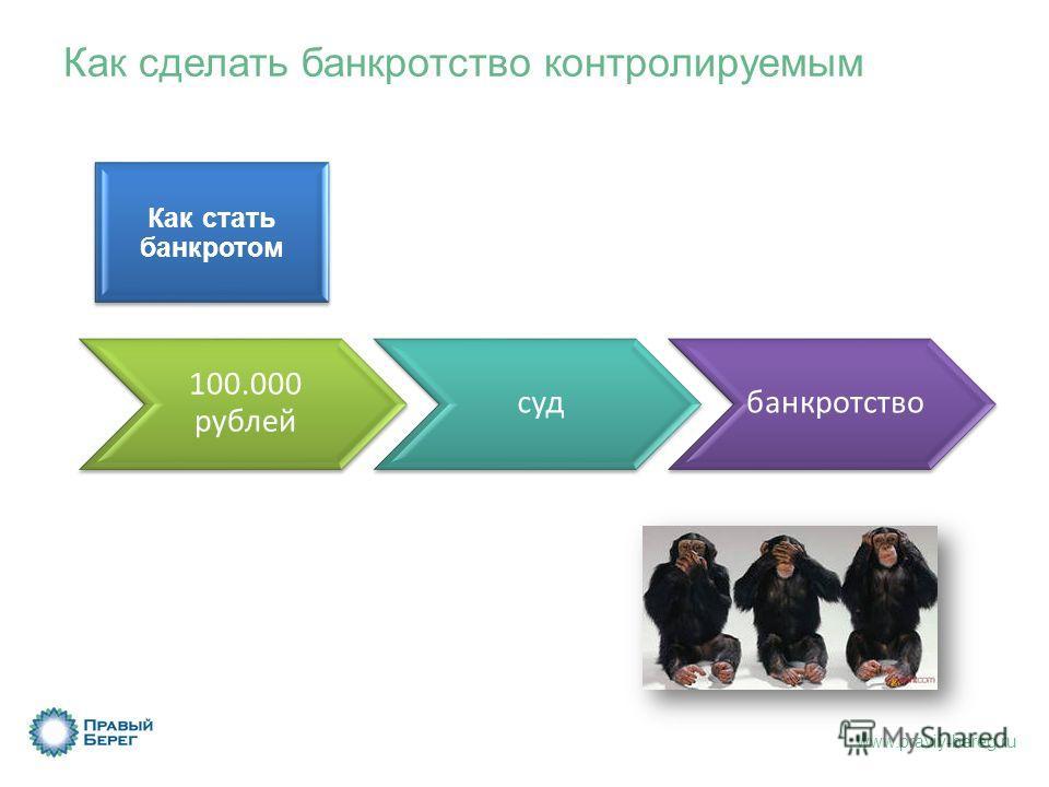 www.praviy-bereg.ru 100.000 рублей судбанкротство Как сделать банкротство контролируемым Как стать банкротом
