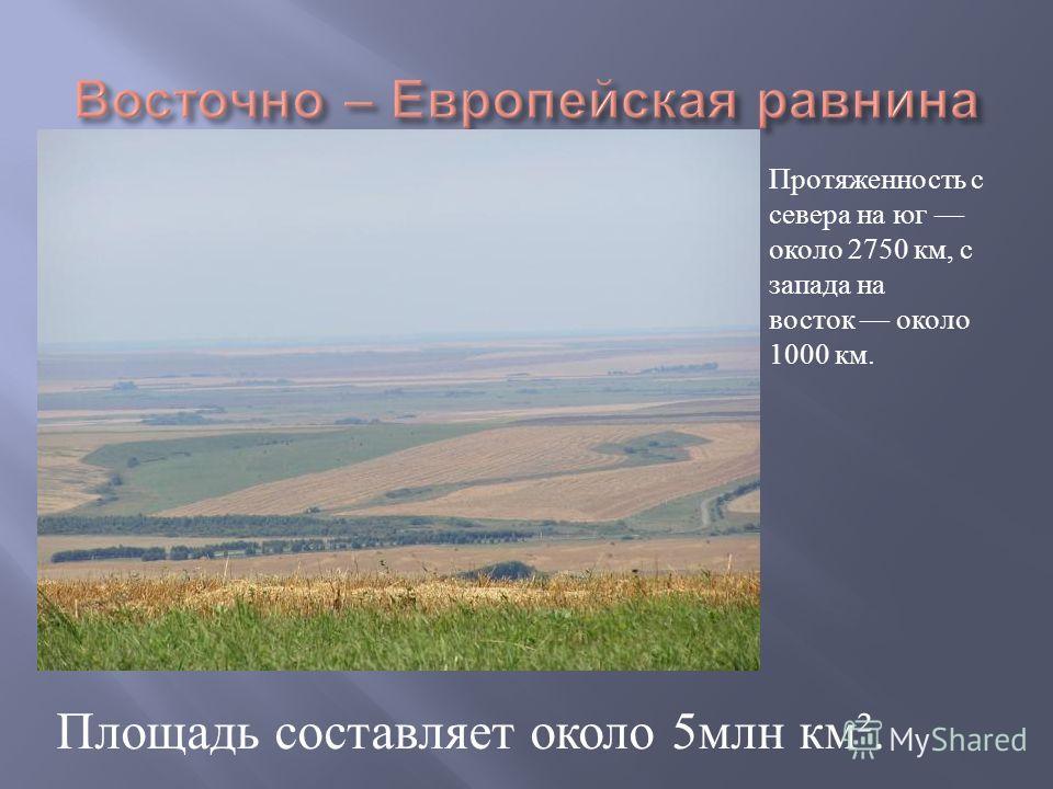 Протяженность с севера на юг около 2750 км, с запада на восток около 1000 км. Площадь составляет около 5 млн км ².