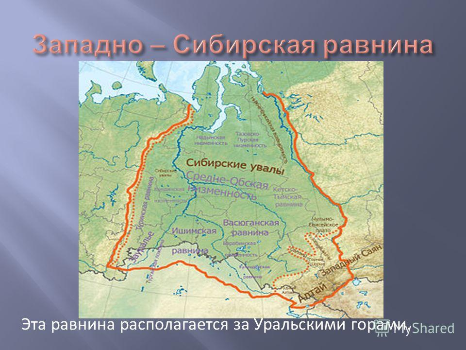 Эта равнина располагается за Уральскими горами.