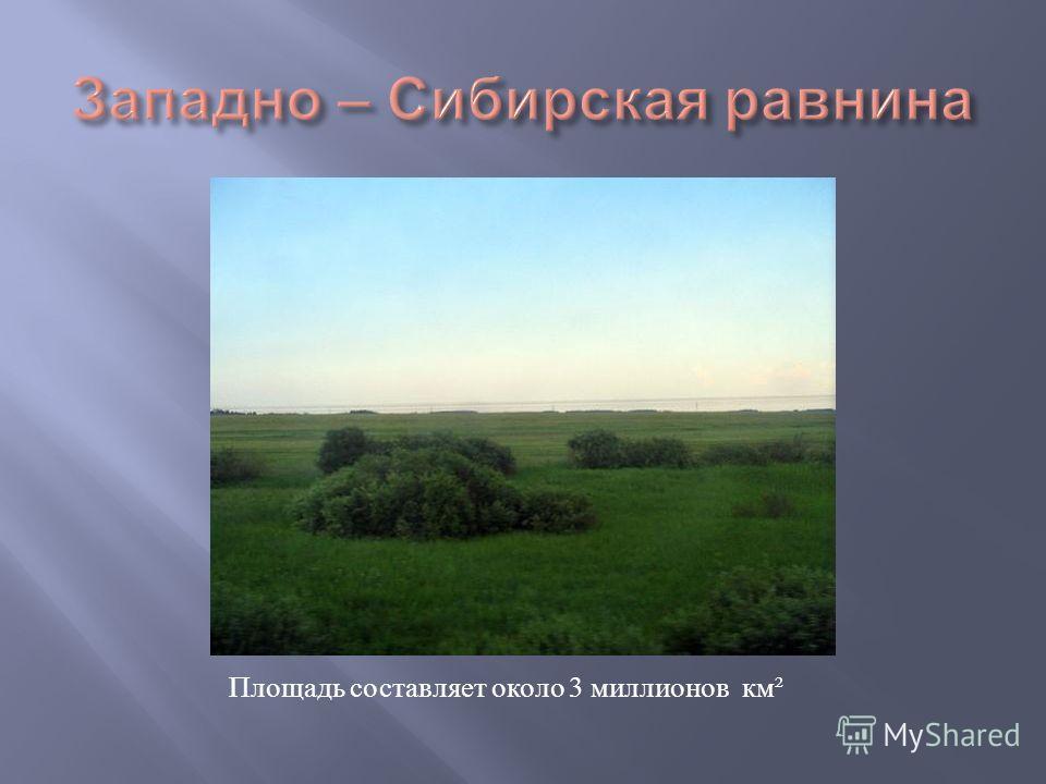 Площадь составляет около 3 миллионов км ²