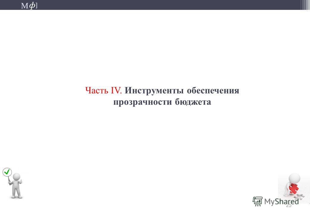М ] ф М ] ф 25 Часть IV. Инструменты обеспечения прозрачности бюджета