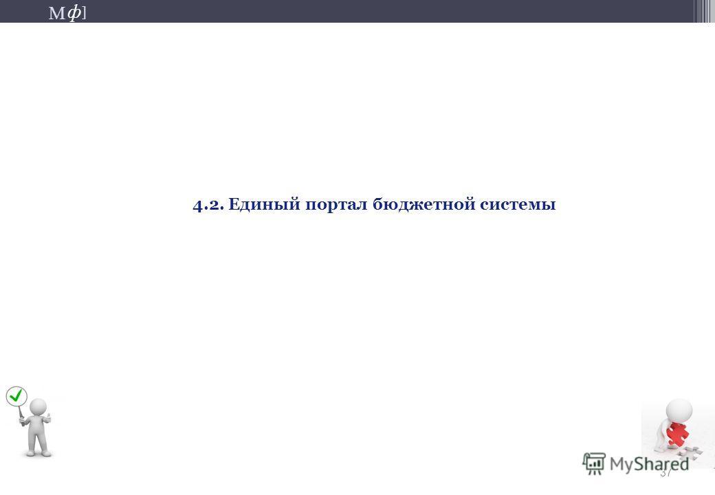 М ] ф М ] ф 37 4.2. Единый портал бюджетной системы