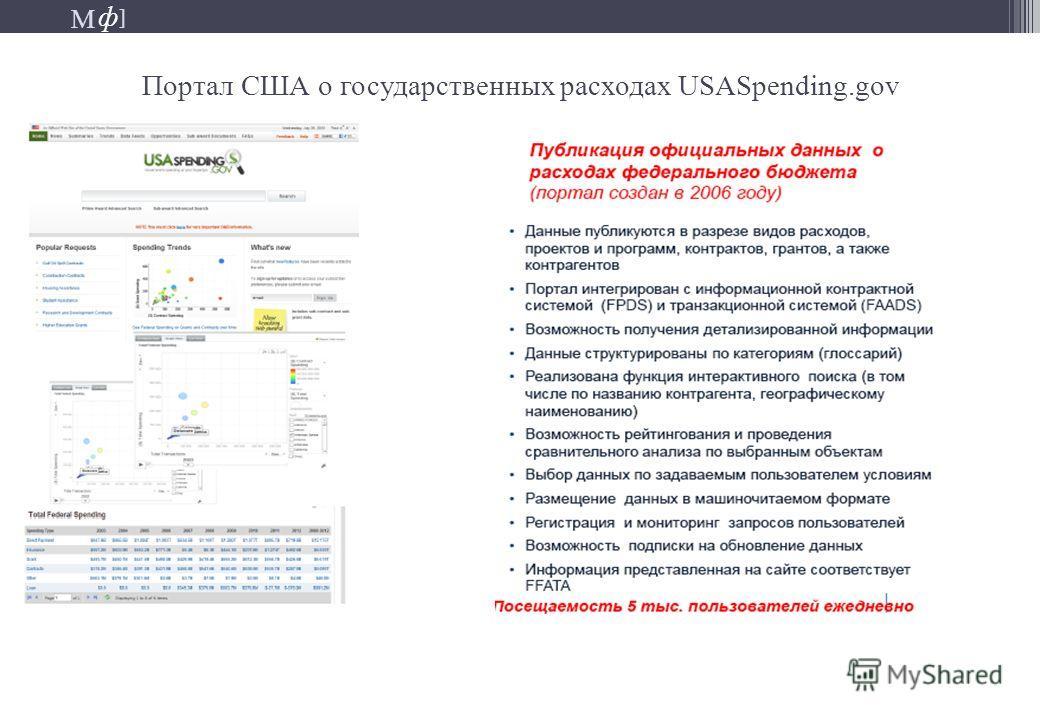 М ] ф М ] ф Портал США о государственных расходах USASpending.gov