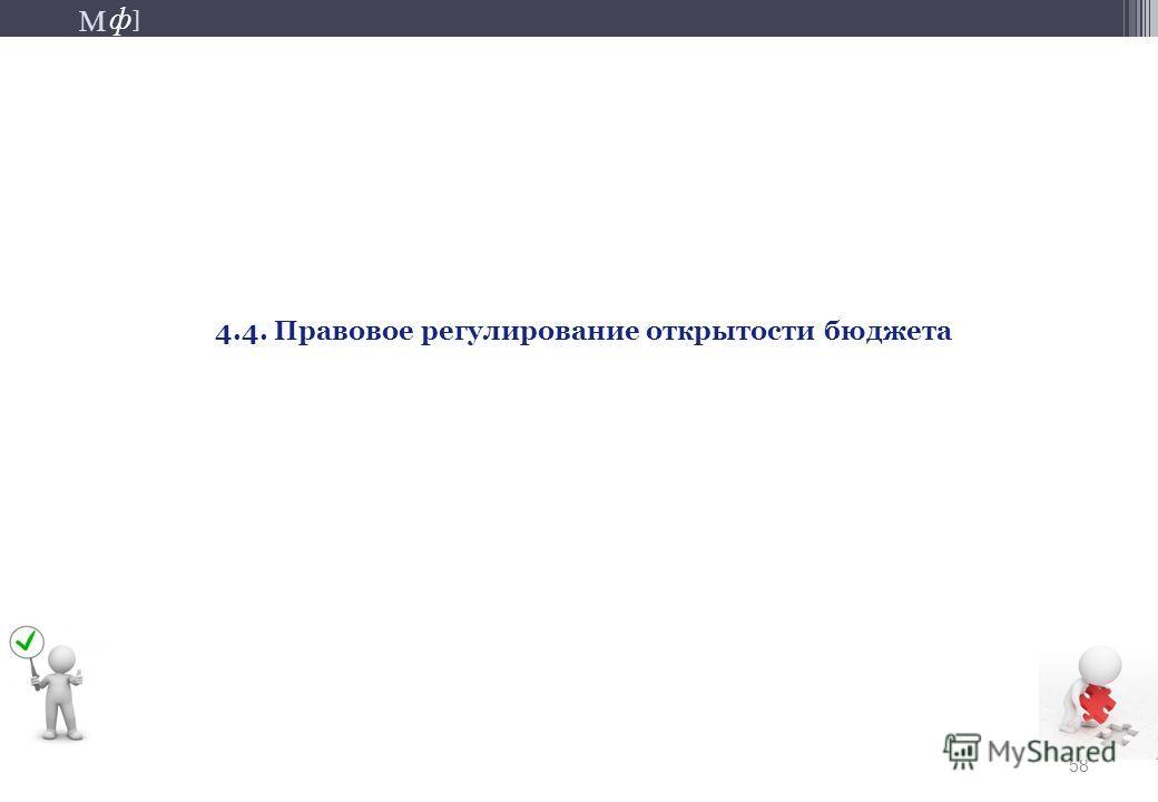 М ] ф М ] ф 58 4.4. Правовое регулирование открытости бюджета