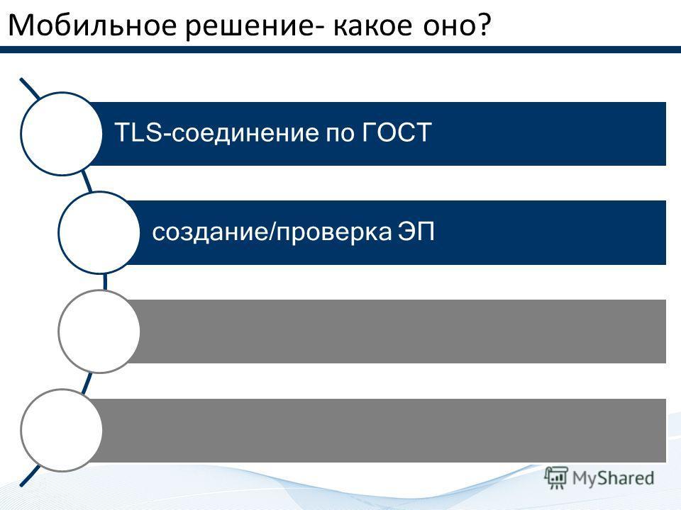 Мобильное решение- какое оно? TLS-соединение по ГОСТ создание/проверка ЭП