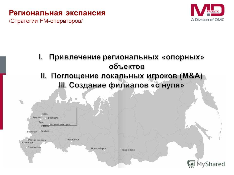 Региональная экспансия /Стратегии FM-операторов/