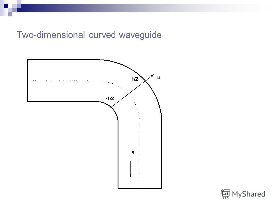 Two-dimensional curved waveguide