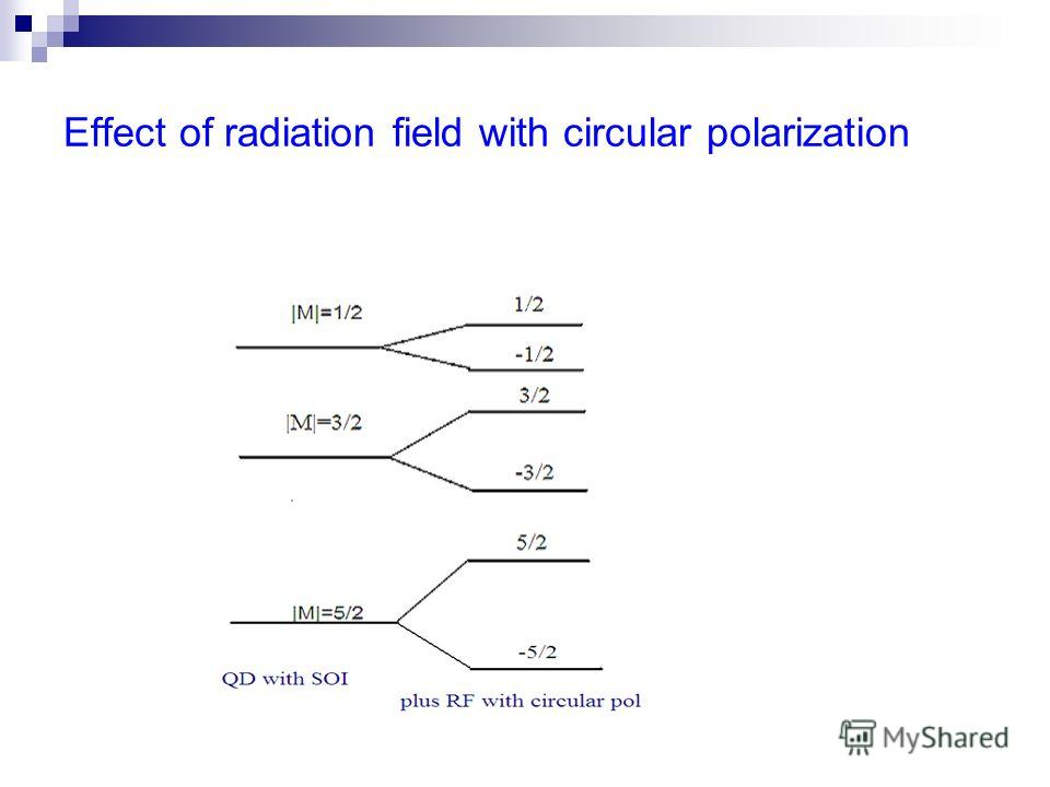 Effect of radiation field with circular polarization
