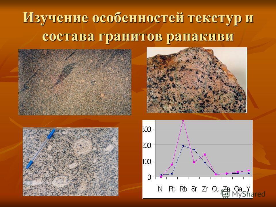 Изучение особенностей текстур и состава гранитов рапакиви