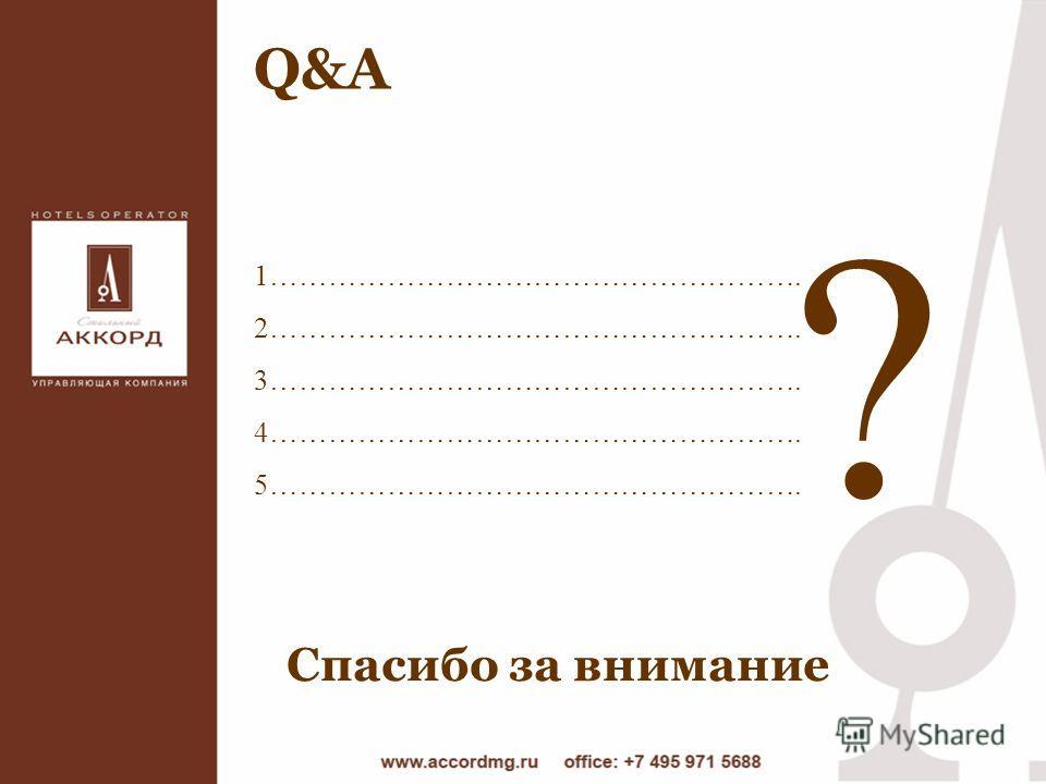 Q&A 1………………………………………………. 2………………………………………………. 3………………………………………………. 4………………………………………………. 5………………………………………………. ? Спасибо за внимание