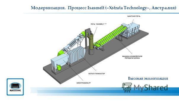 Модернизация. Процесс Isasmelt («Xstrata Technology», Австралия) Высокая экологизация
