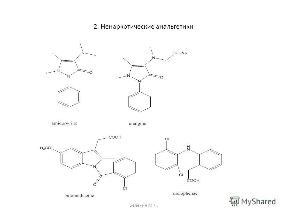 2. Ненаркотические анальгетики 7Белянин М.Л.