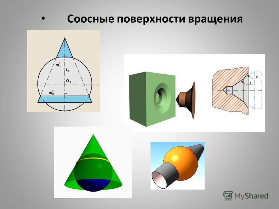 Соосные поверхности вращения