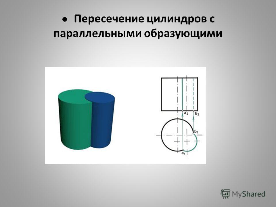 Пересечение цилиндров с параллельными образующими