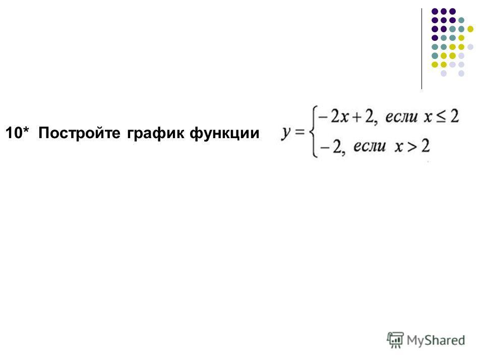 10* Постройте график функции