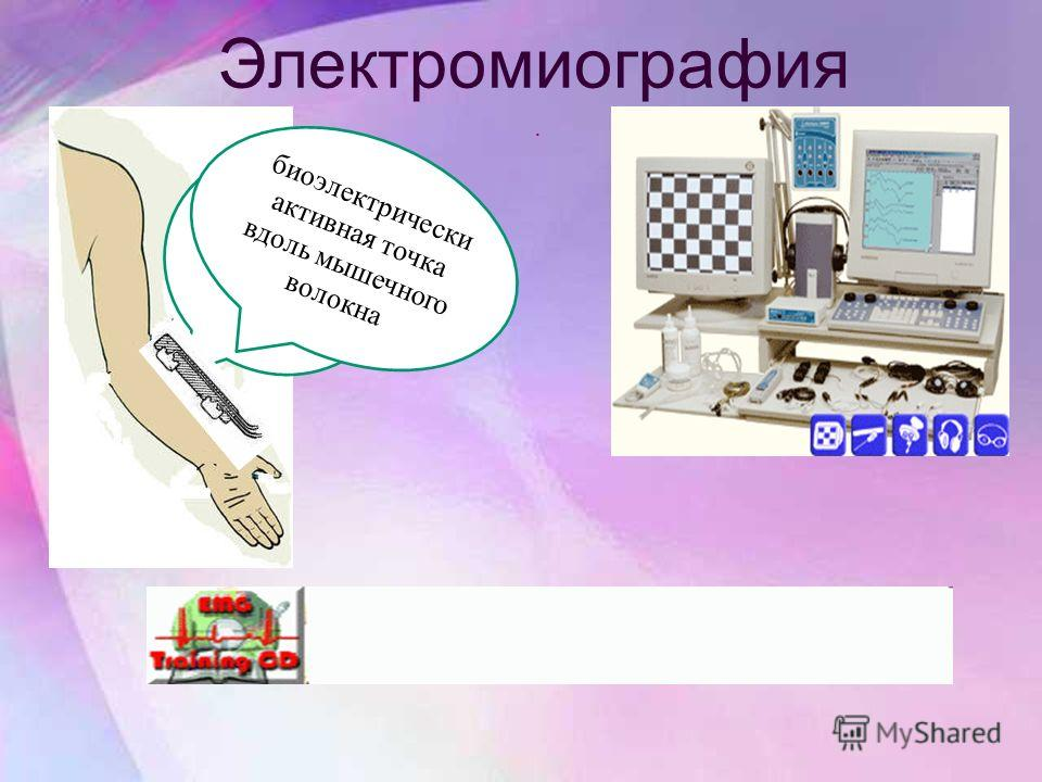 Электромиография. обработка спиртом кожи биоэлектрически активная точка вдоль мышечного волокна