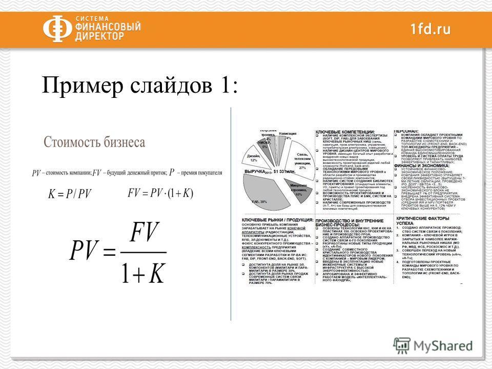 Пример слайдов 1: