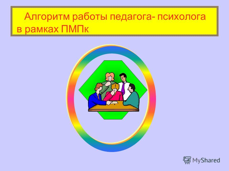..... Алгоритм работы педагога- психолога в рамках ПМПк