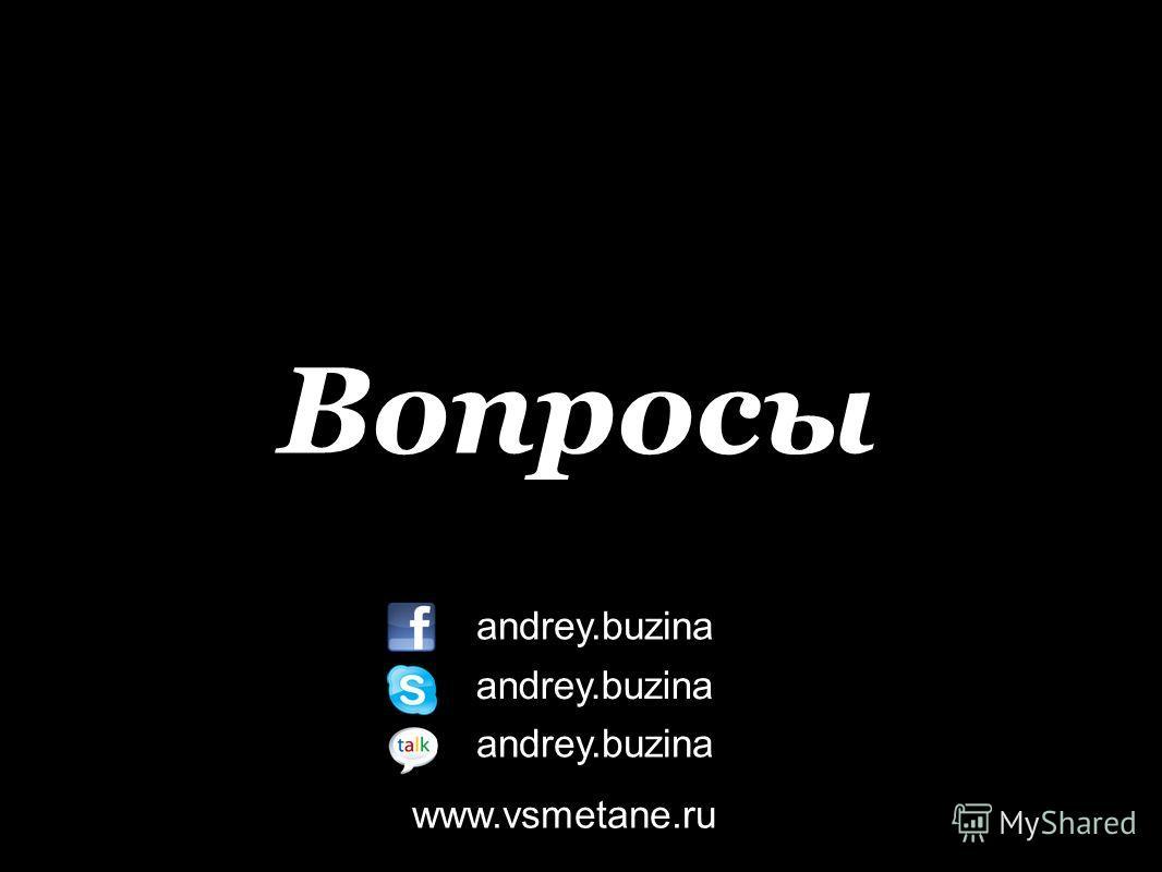 Вопросы andrey.buzina www.vsmetane.ru