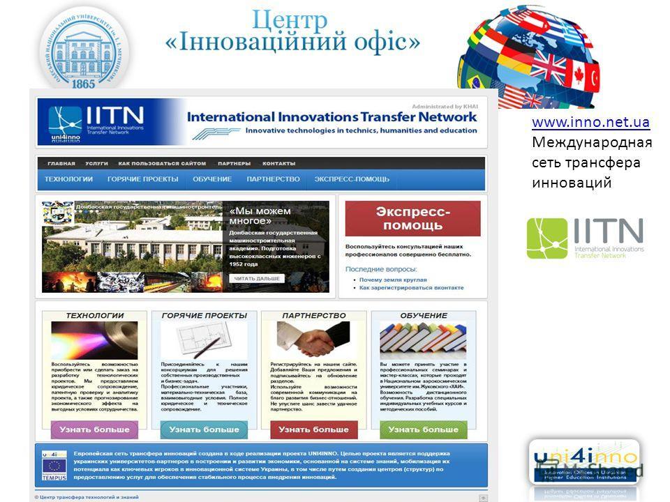 www.inno.net.ua Международная сеть трансфера инноваций
