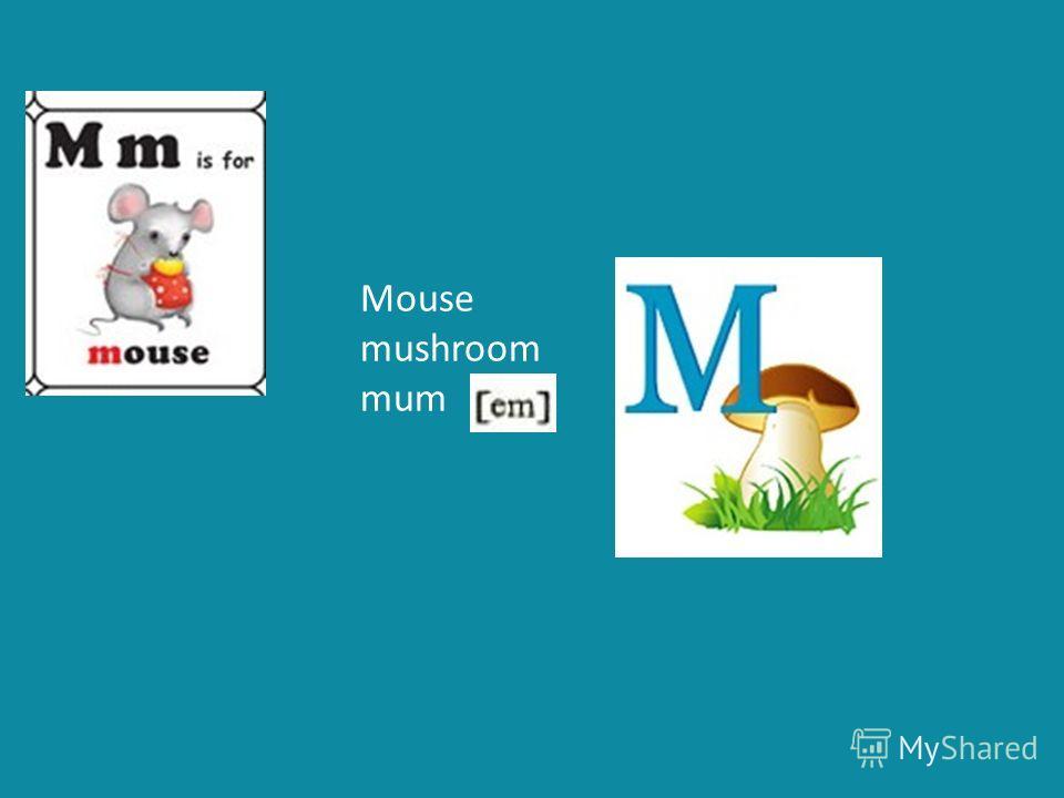 Mouse mushroom mum