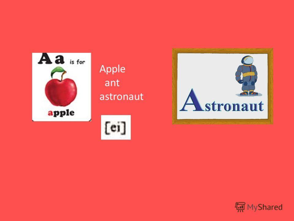 Apple ant astronaut