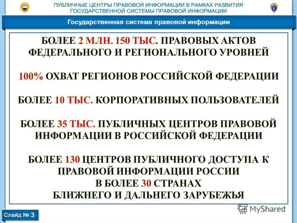 Государственная система правовой информации 3