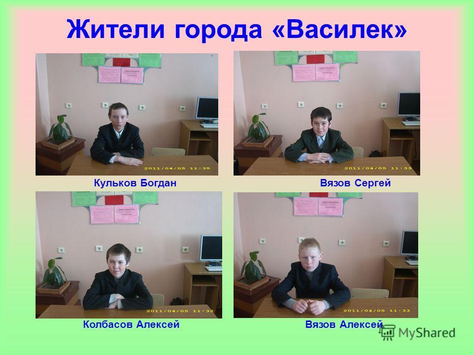 Жители города «Василек» Вязов Алексей Вязов Сергей Колбасов Алексей Кульков Богдан