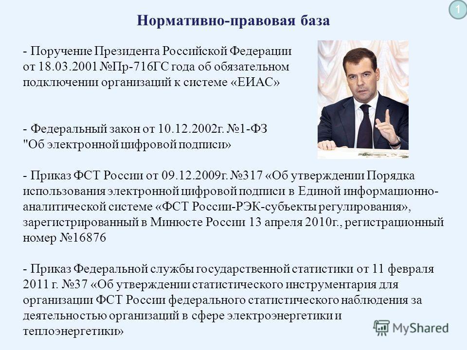 «Единая информационно- аналитическая система ФСТ России» 13 апреля 2011 год