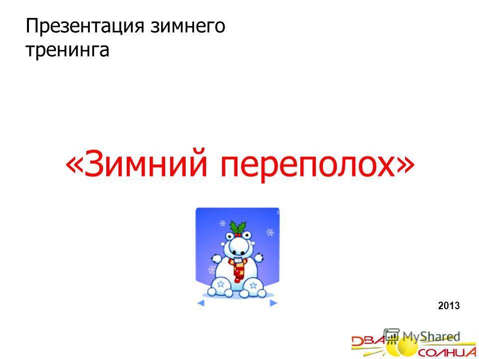 «Зимний переполох» 2013 Презентация зимнего тренинга