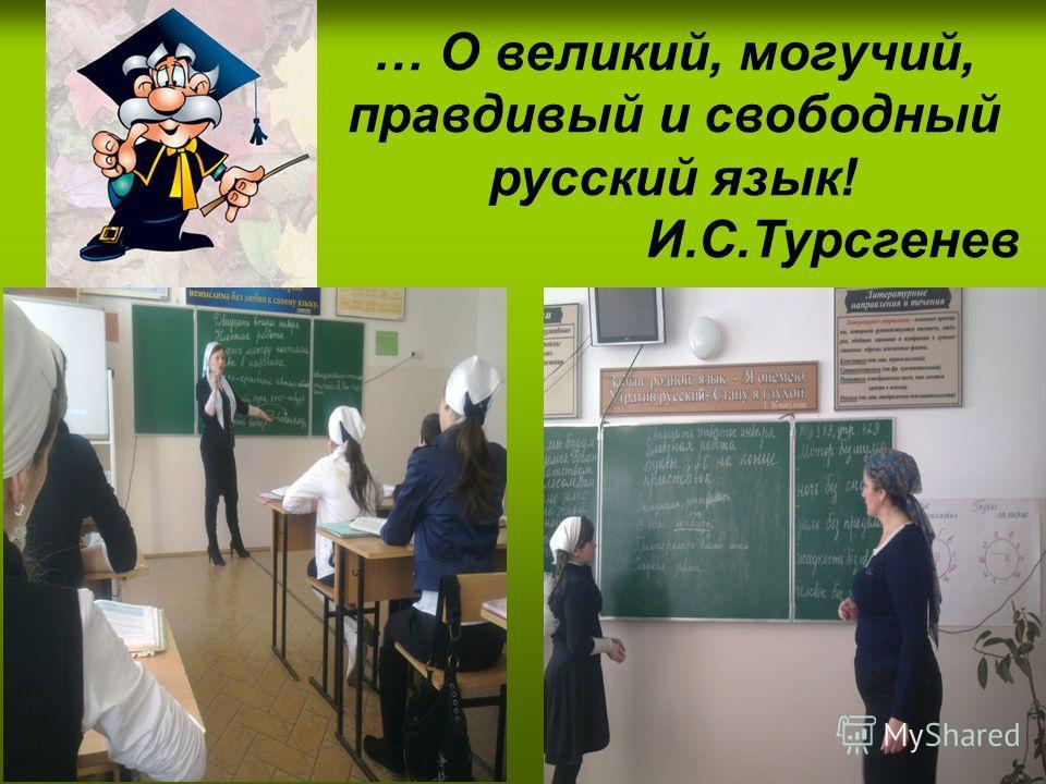… О великий, могучий, правдивый и свободный русский язык! И.С.Турсгенев