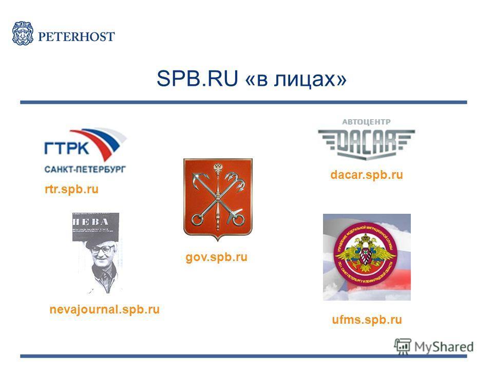 SPB.RU «в лицах» gov.spb.ru rtr.spb.ru nevajournal.spb.ru ufms.spb.ru dacar.spb.ru