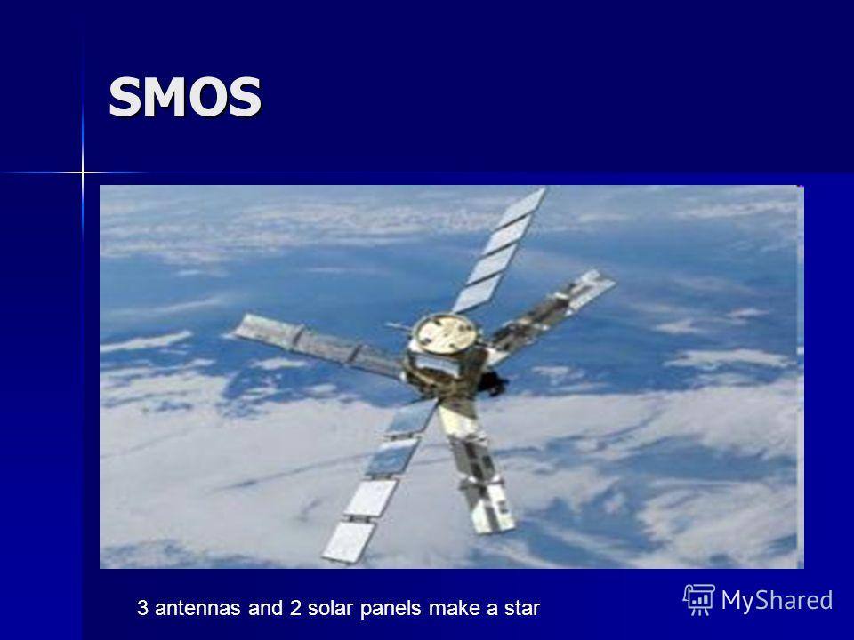SMOS 3 antennas and 2 solar panels make a star