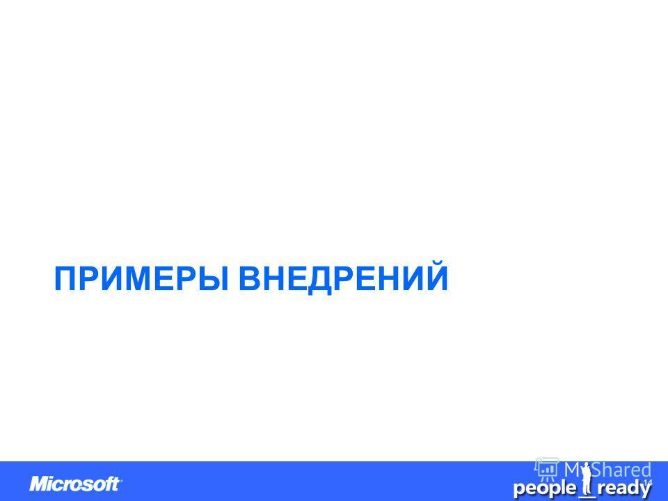 CONFIDENTIAL 1414 ПРИМЕРЫ ВНЕДРЕНИЙ