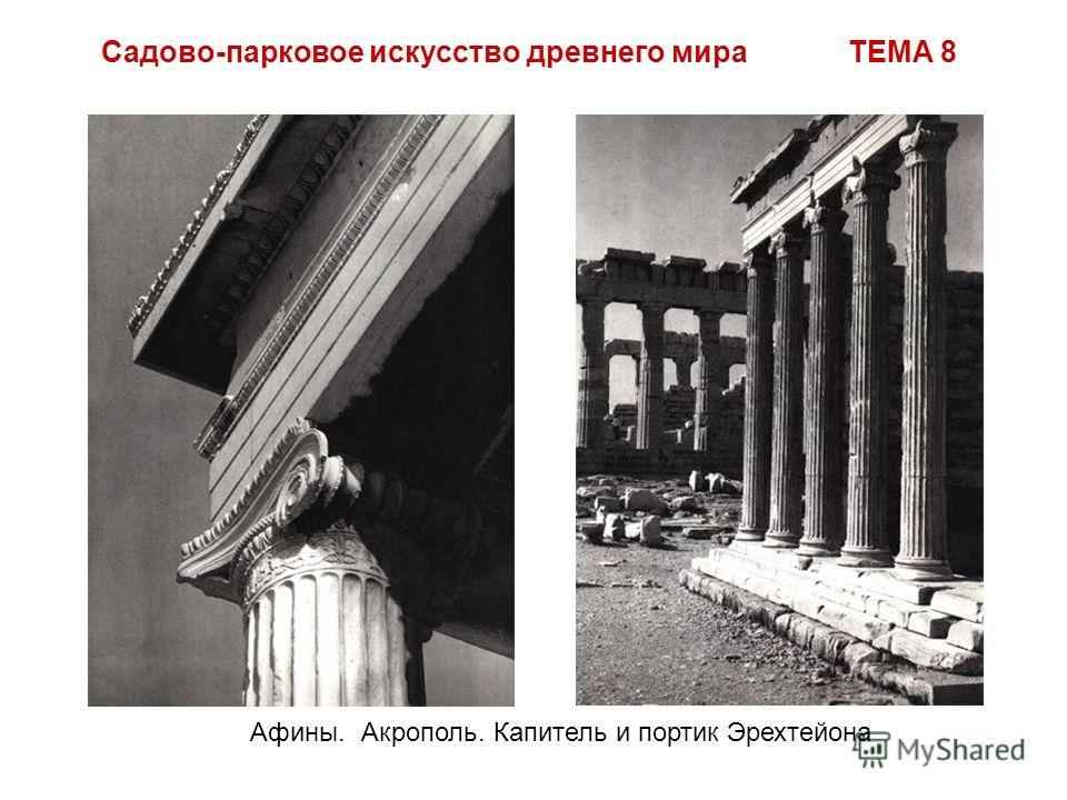 Садово-парковое искусство древнего мира ТЕМА 8 Афины. Акрополь. Капитель и портик Эрехтейона