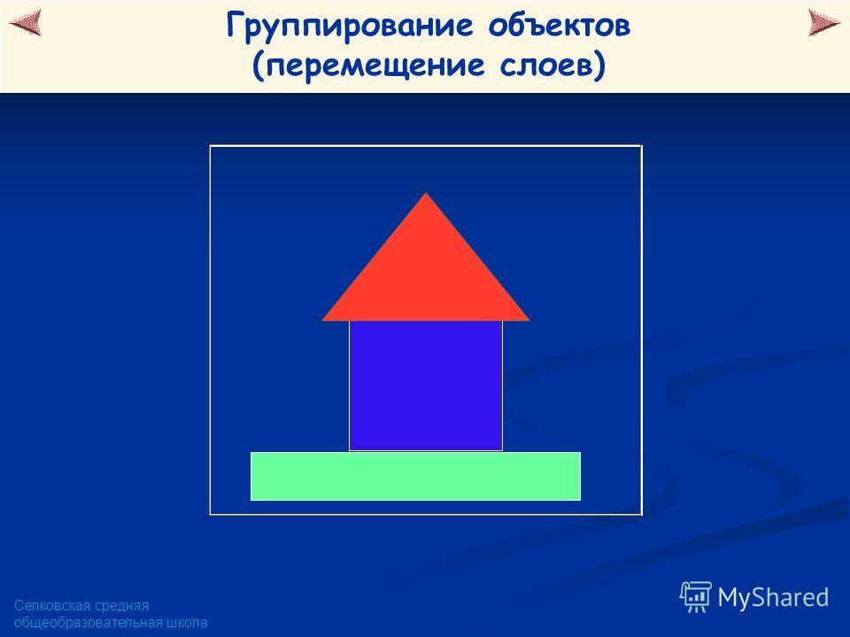 Селковская средняя общеобразовательная школа Группирование объектов (перемещение слоев)