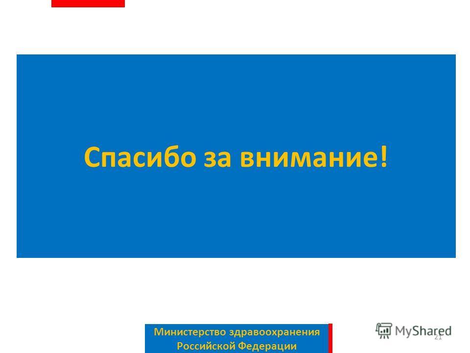 Спасибо за внимание! Министерство здравоохранения Российской Федерации 21