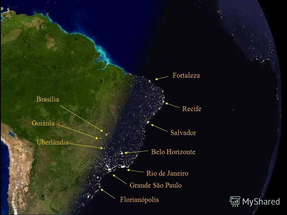 Гранде Сао Пауло Рмо де Женейро Бело Хоризонте Сальвадор Атлантический Океан Brazilian Continental Platform. Наступление ночи в Бразилии