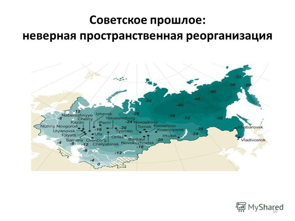 Советское прошлое: неверная пространственная реорганизация 10