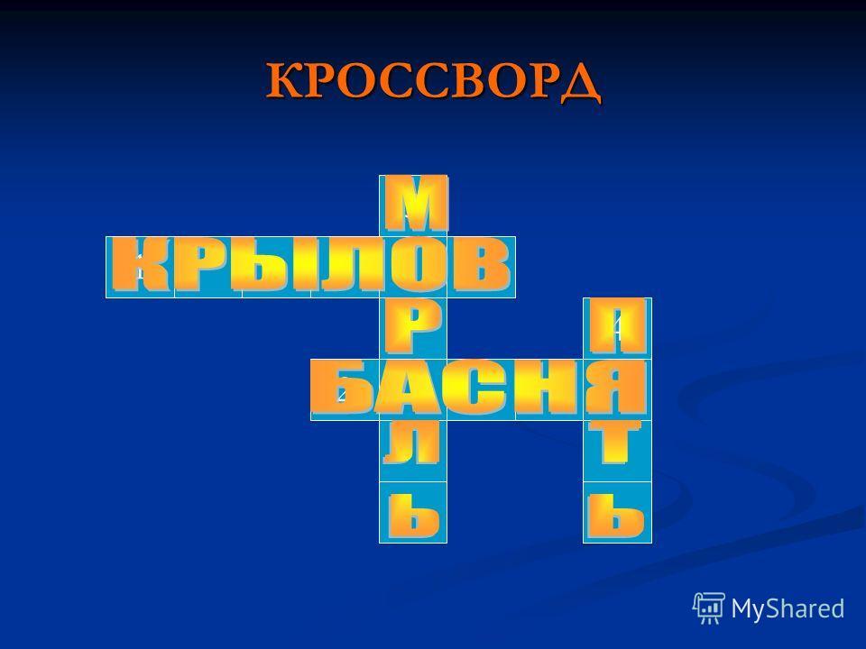 КРОССВОРД 3 1 2 4