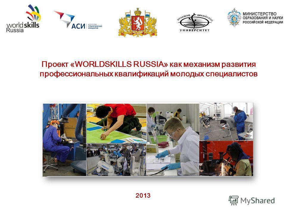 2013 Проект «WORLDSKILLS RUSSIA» как механизм развития профессиональных квалификаций молодых специалистов
