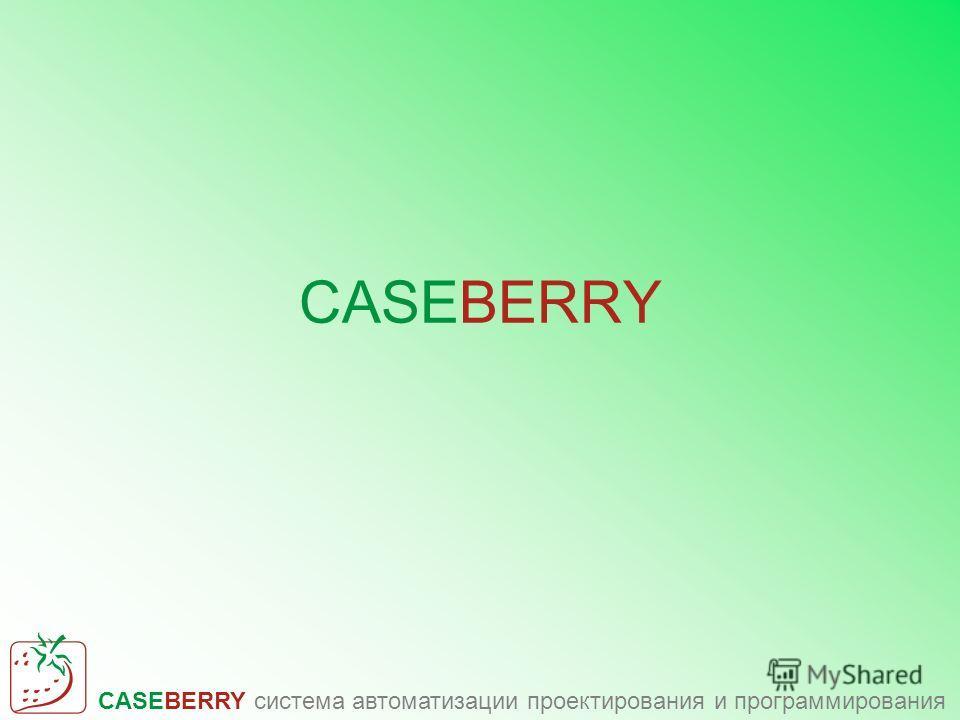 CASEBERRY система автоматизации проектирования и программирования CASEBERRY