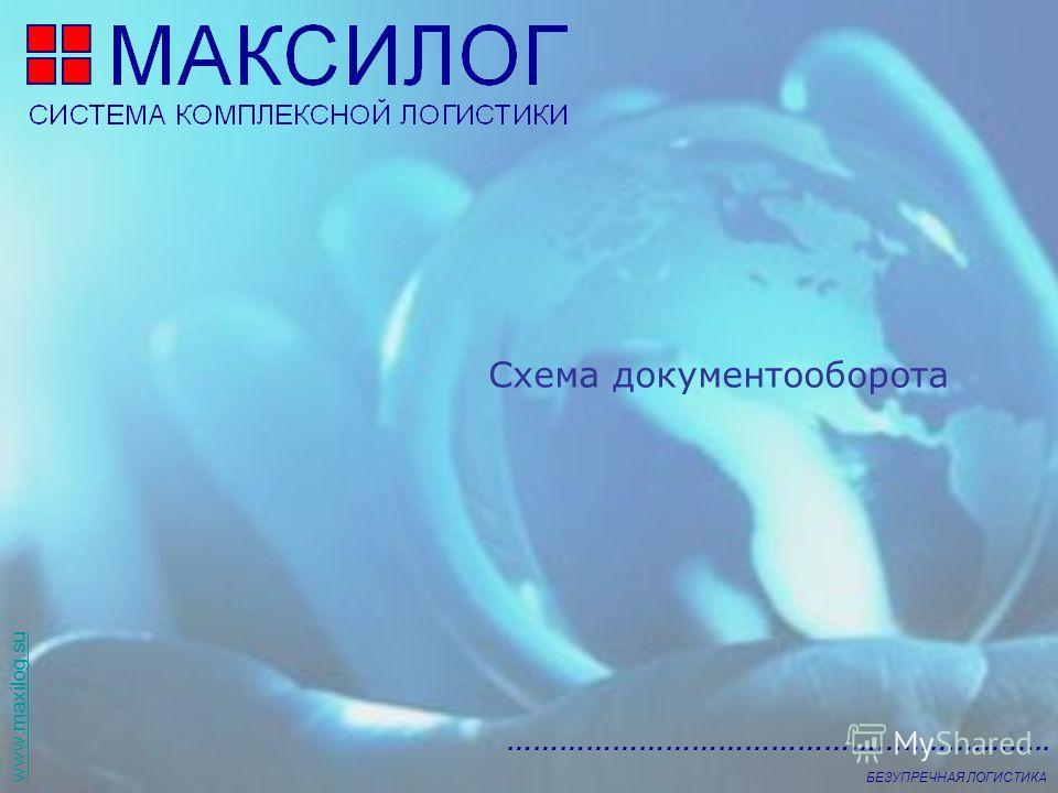 www.maxilog.su …………………………………………………….. БЕЗУПРЕЧНАЯ ЛОГИСТИКА Схема документооборота