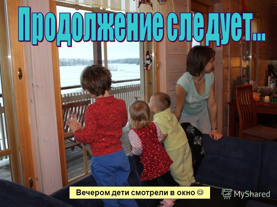 Вечером дети смотрели в окно
